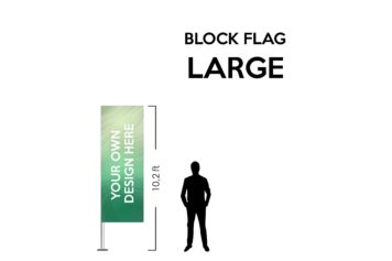 Block flag Large 10.2ft