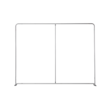"""Straight Pop-Up Display with Premium Fabric banner (118"""" x 90.5"""")"""