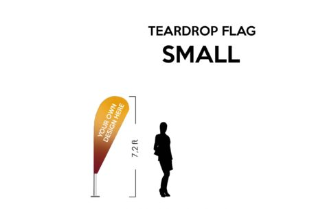 TearDrop flag Small 7.2ft